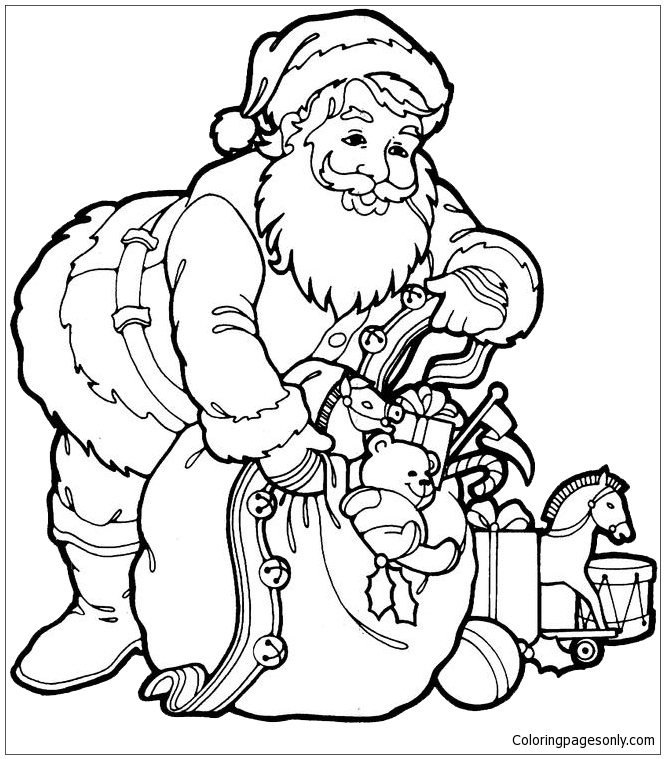 Trendy Design Ideas Santa Claus Coloring Page - Free ...