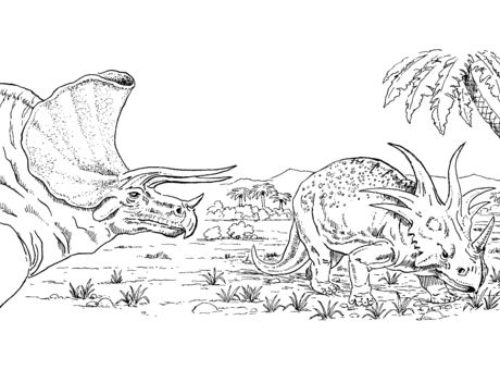 Triceratops And Styracosaurus Coloring Page