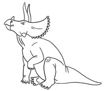 Triceratops Dinosaur 2 Coloring Page