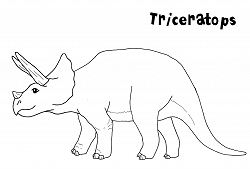 Triceratops Dinosaur 5 Coloring Page