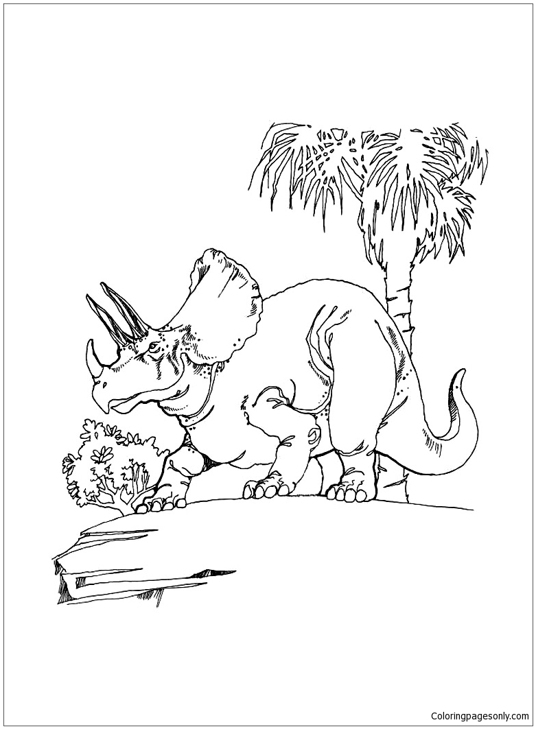 Triceratops Dinosaur 6 Coloring Page