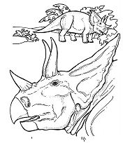 Triceratops Dinosaur 7 Coloring Page