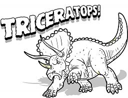 Triceratops Dinosaur 8 Coloring Page