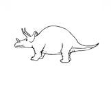 Triceratops From Dinosaur Coloring Page