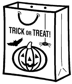 Trick or Treat Bag Coloring Page