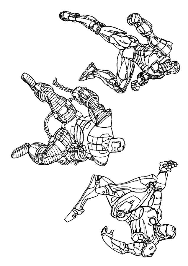 Trio Robots Avengers