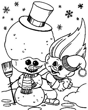 Troll Doll Template Coloring Page