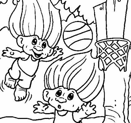 Troll Giant Playing Basketball
