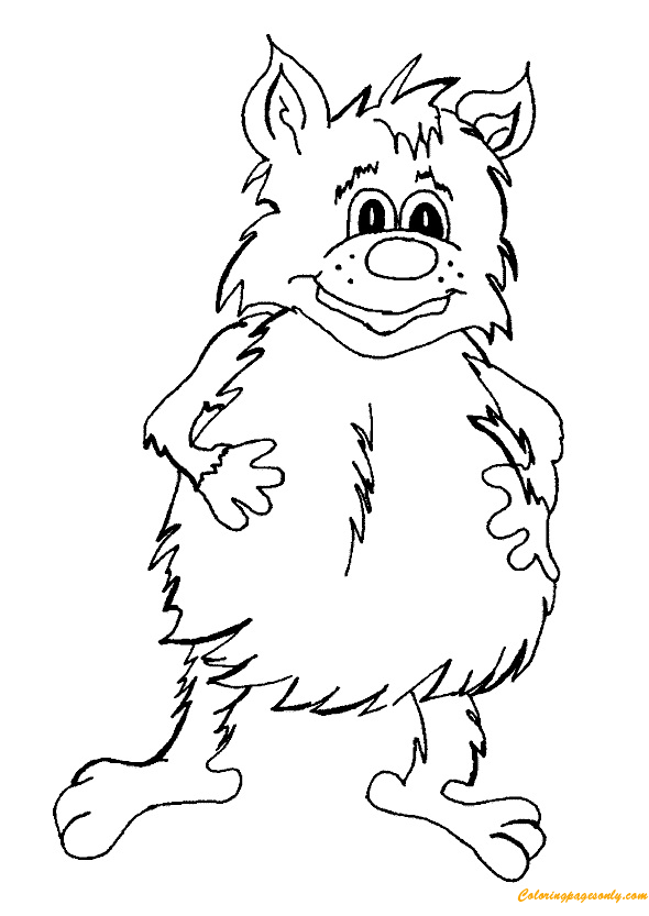 Trolls Giants Coloring Page Free