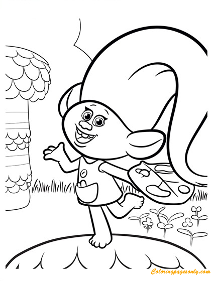 Trolls Harper Coloring Pages