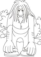 Trolls Picture Coloring Page