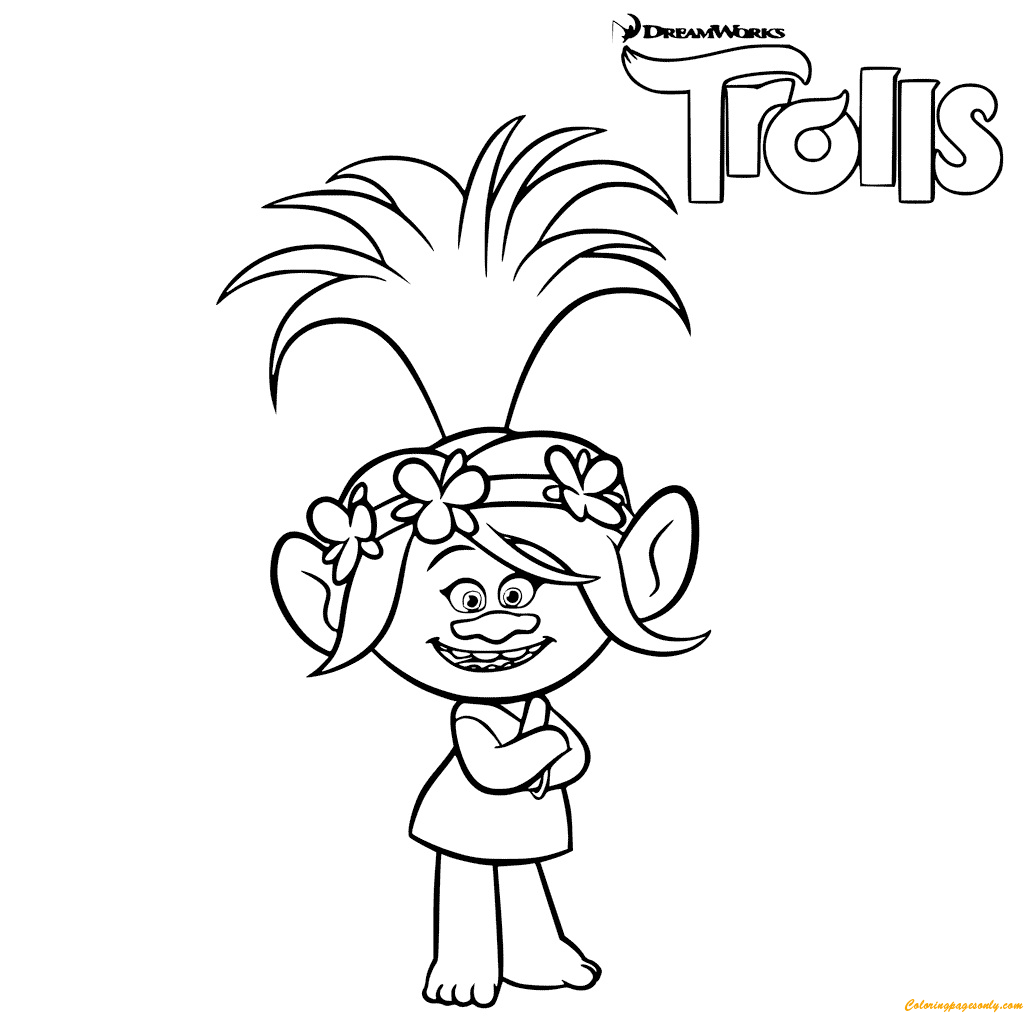 Trolls Poppy Troll Coloring Page Free Coloring Pages Line