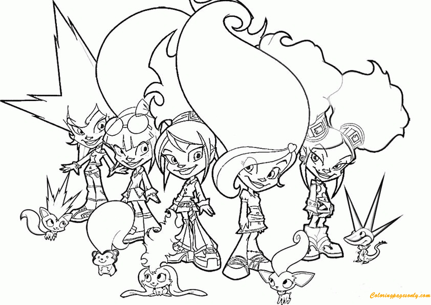 Trollz Doll Coloring Page