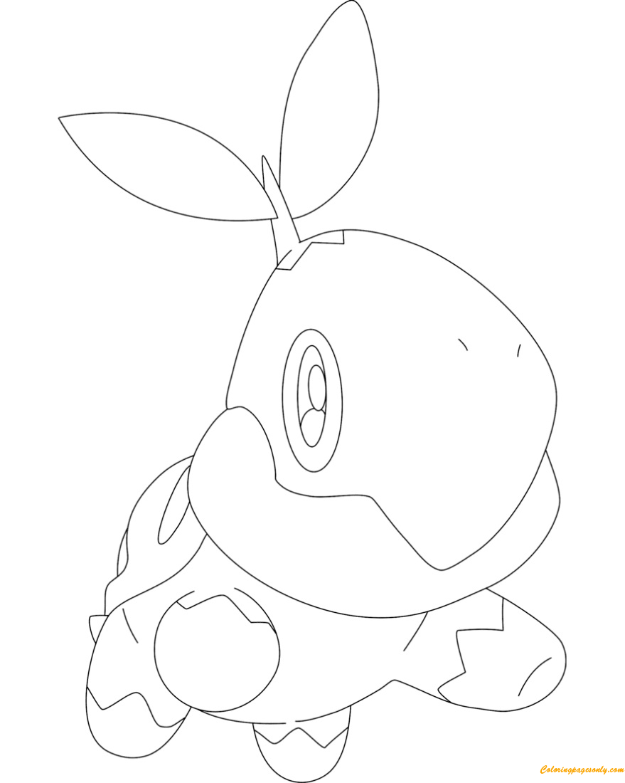 Turtwig Pokemon Coloring Page
