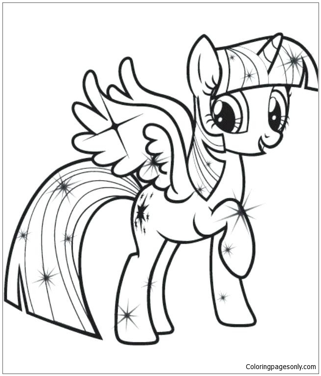 Twilight Sparkle 1 Coloring Pages - Cartoons Coloring Pages - Coloring  Pages For Kids And Adults