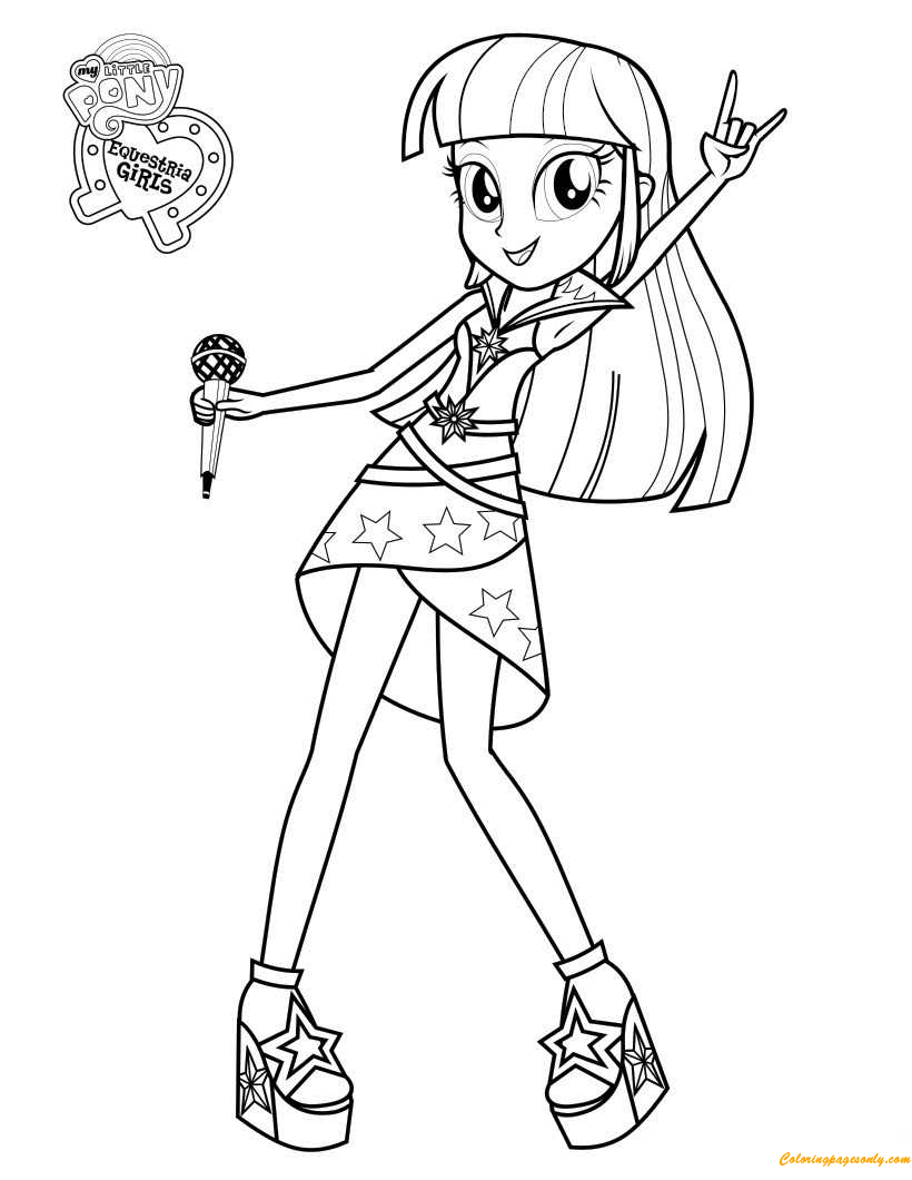 Twilight Sparklec Sings Coloring Page