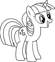 Twilight Velvet from My Little Pony Coloring Page