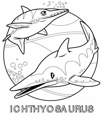Two Ichthyosaurus
