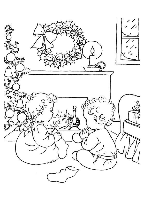 Two Kids Waiting Christmas Eve