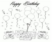 Two Trolls Happy Birthday Coloring Page