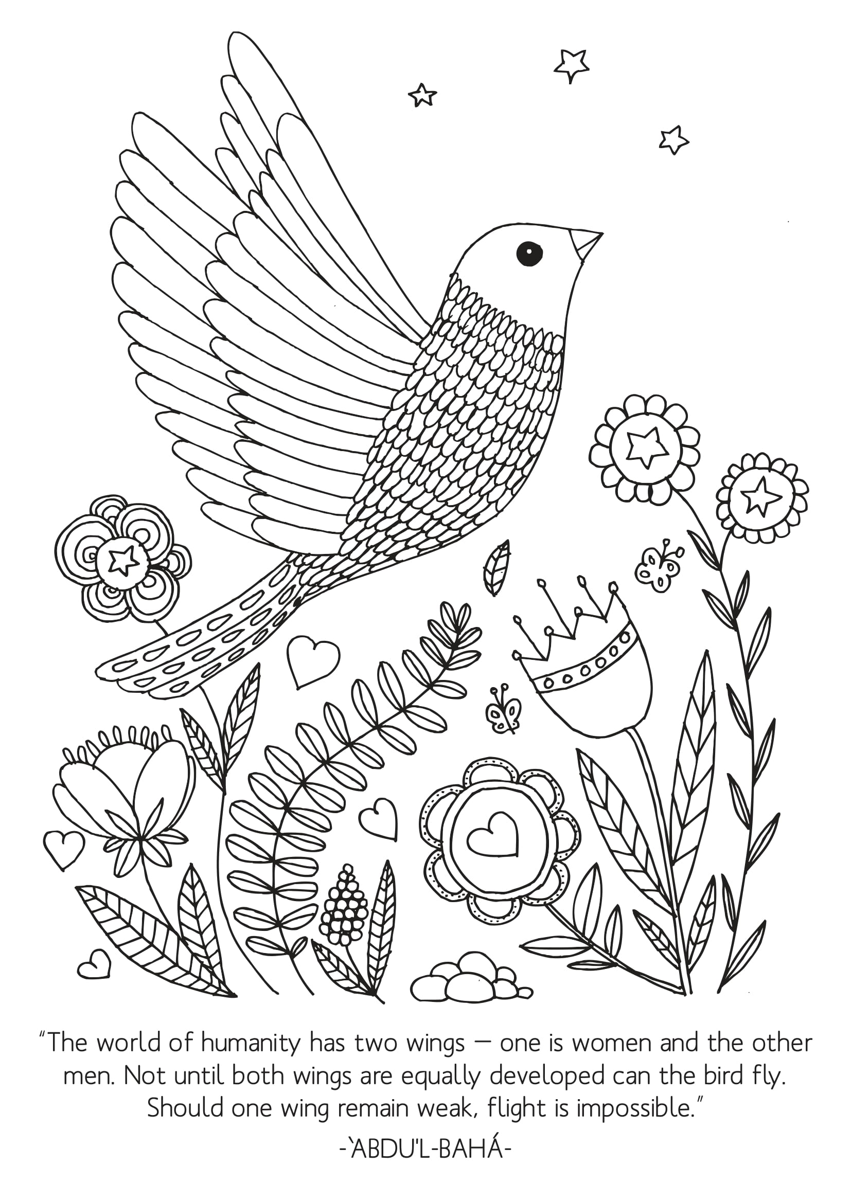 Two Wings Coloring Page
