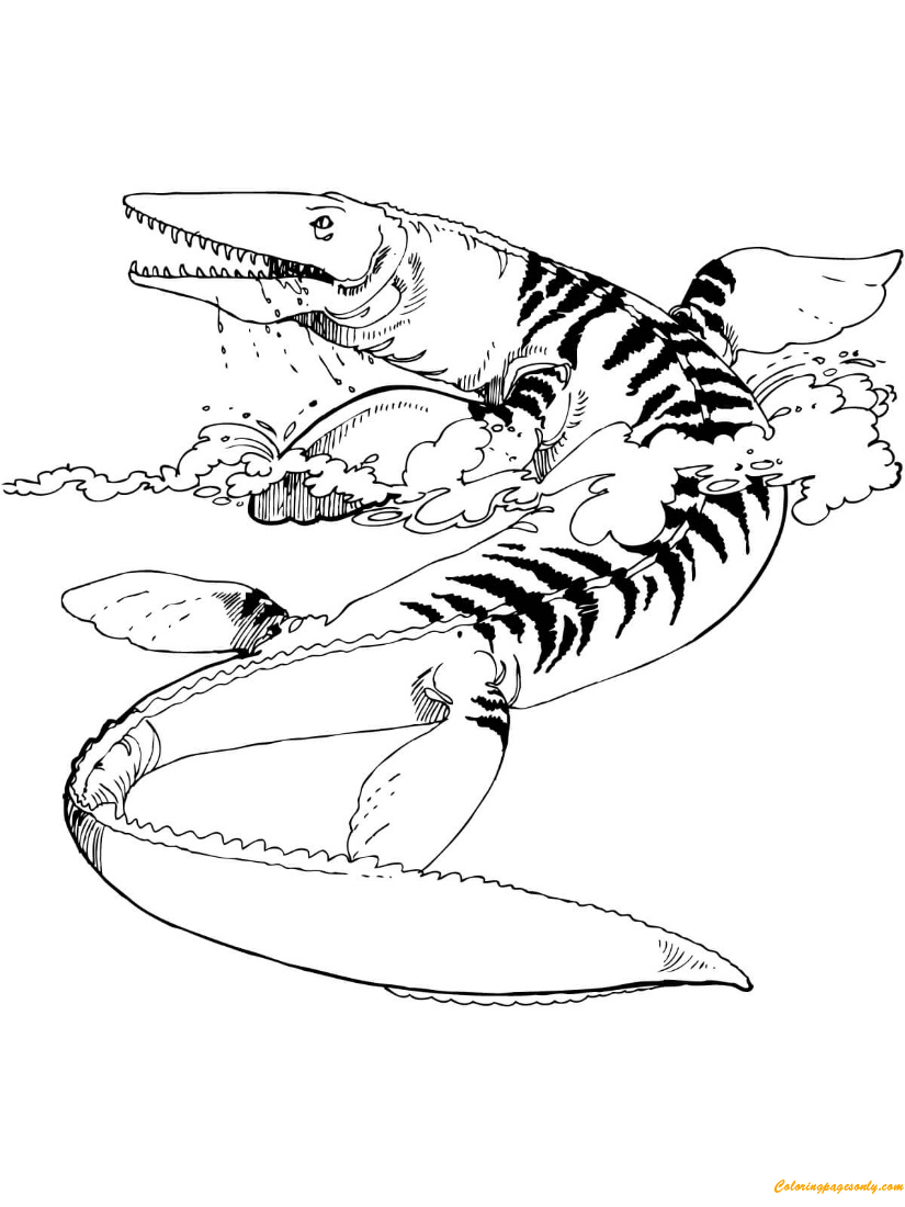 tylosaurus mosasaur coloring page  free coloring pages online