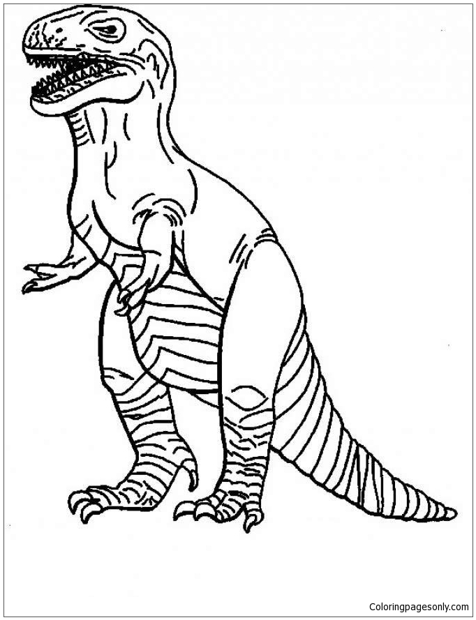 Tyrannosaurus 6 Coloring Page