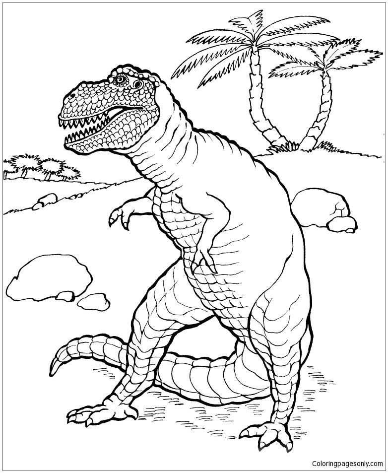 Tyrannosaurus Dinosaur Coloring Page