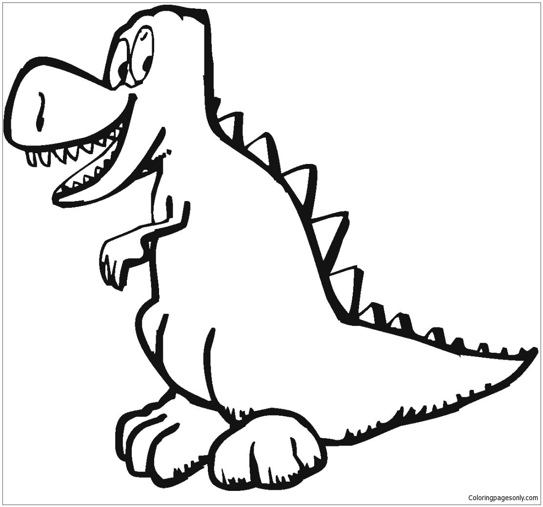 Tyrannosaurus Illustration From Dinosaur Coloring Page