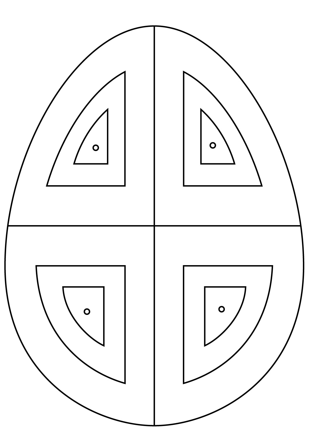 Ukrainian Easter Eggs Abstract Pattern Coloring Page