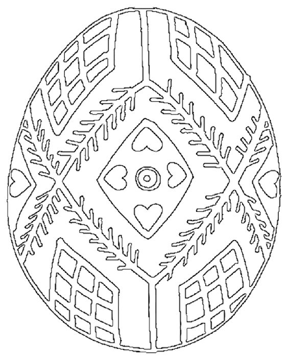 Ukrainian Easter Eggs Coloring Page
