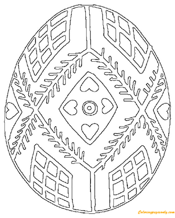 Ukrainian Easter Eggs Coloring Page Free Coloring Pages
