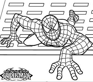Ultimate Spiderman Coloring Page