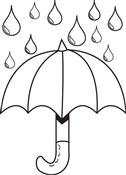 Umbrella Contre Rain Coloring Page