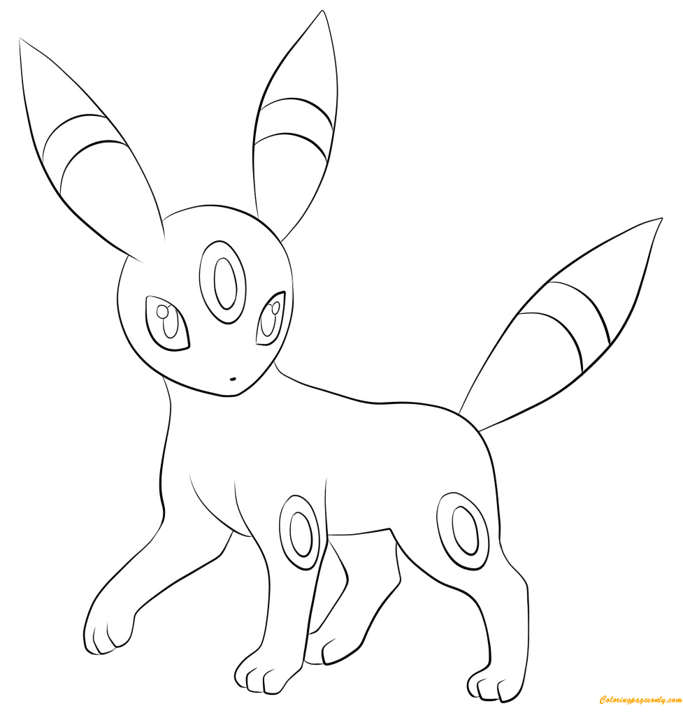 Umbreon Coloring Page Free Coloring Pages Online