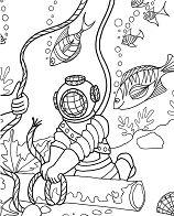 Under The Sea Adventure Coloring Page