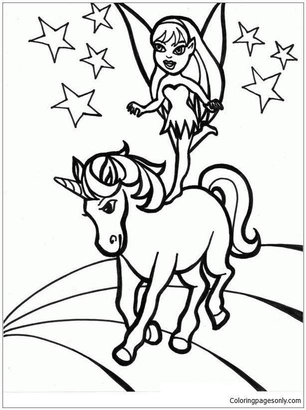 Unicorn and Girl Coloring Page - Free Coloring Pages Online