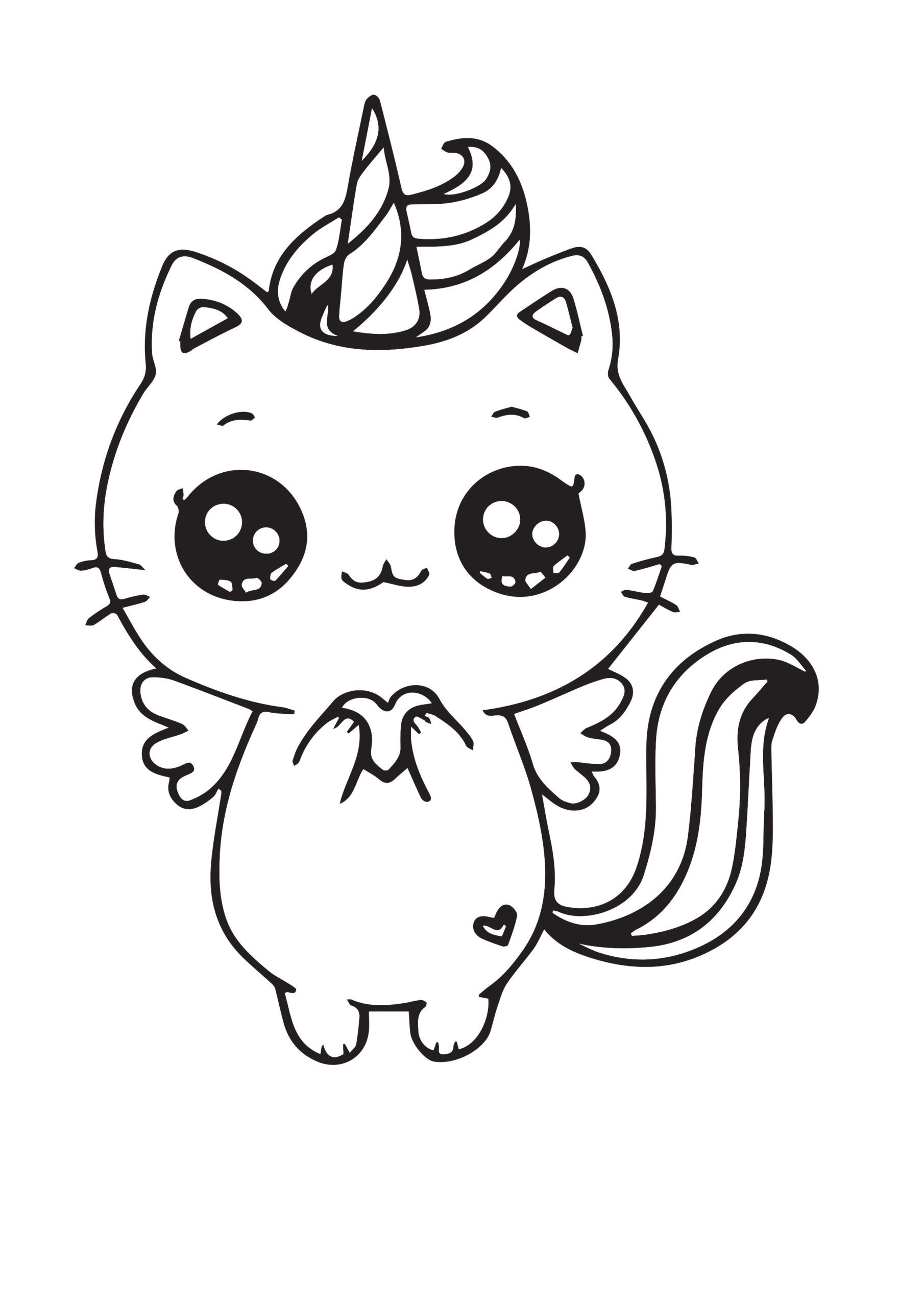 Unicorn Cat Crayola Coloring Page