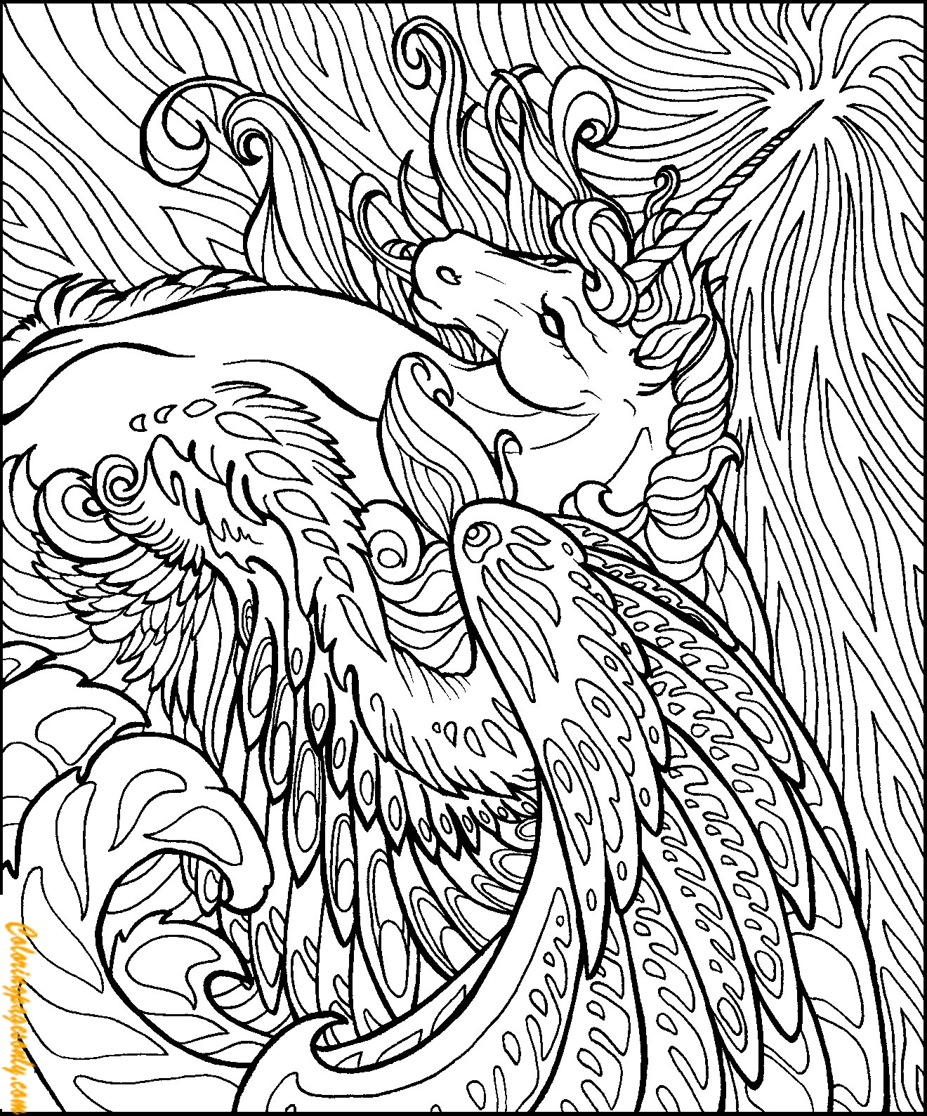 Unicorn Horse Coloring Page Free Coloring Pages Online