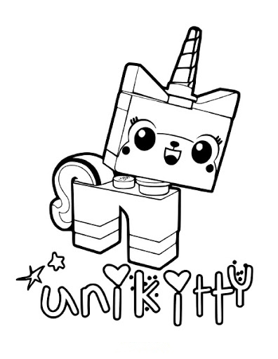 Unikitty Coloring Page
