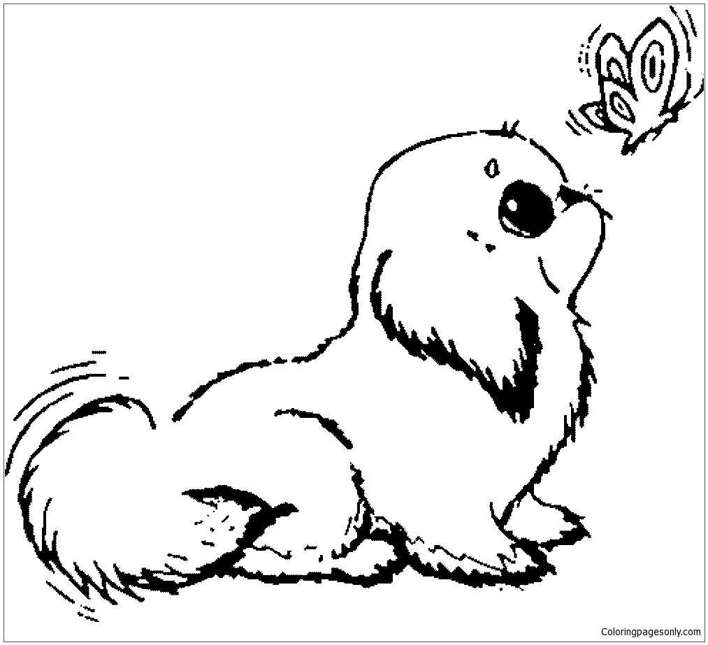 Unique Puppy Dog Coloring Page