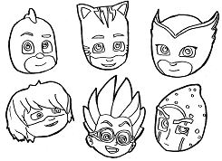 Unusual Pj Masks Coloring Page