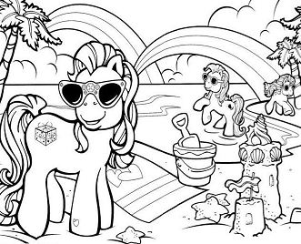 Vacation With Friends At The Beach of My Little Pony