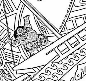 Vaiana From Moana Coloring Page