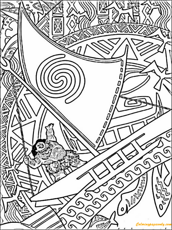 Vaiana From Moana Coloring Pages