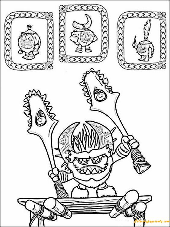 Vaiana Moana Coloring Page