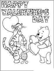Valentine Day For Bear And Lion