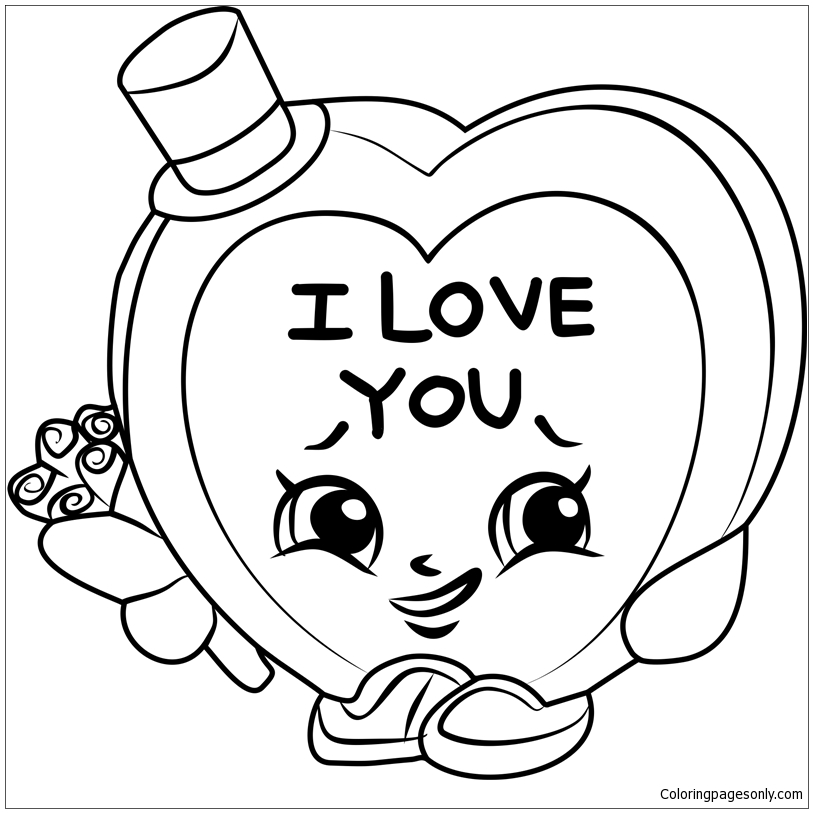 Valentines Shopkins Coloring Pages - Toys And Dolls Coloring Pages - Free Printable  Coloring Pages Online