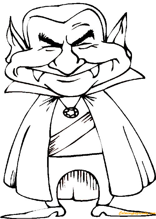 Vampire Halloween Coloring Page