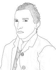 Van Gogh Self Portrait Coloring Page